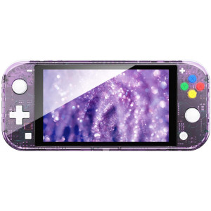 NSL DIY Replacement Housing Shell Case Set for Nintendo Switch Lite Console and Controller Without Electronics (Purple)