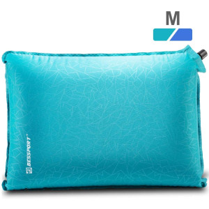 Bessport Inflatable Camping Pillow - Portable Travel Pillow, Compact, Compressible, Comfortable for Sleeping - Neck and Lumbar Support - Great for Camping and Backpacking and Hiking and Hammock