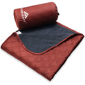 Forceatt Waterproof Blanket, Outdoor Picnic Camping Blanket 55x 79, Warm,Lightweight, Machine Washable,Suitable for Camping, Outdoor, Picnic