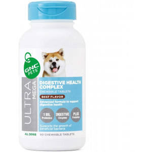 GNC Pets Ultra Mega Digestive Support for Dogs   Maintains Digestive Function to Support Gut Health   Beef Flavor