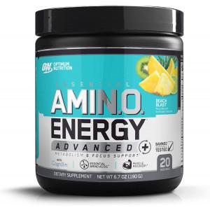 Optimum Nutrition Essential Amino Energy Advanced Plus Metabolism and Focus Support, Beach Blast, 20 Servings