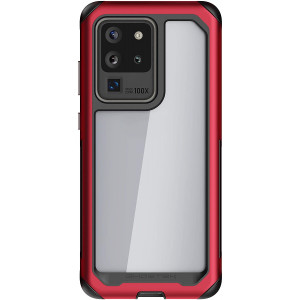 Ghostek Atomic Slim Galaxy S20 Ultra Case Super Space Metal S20 Ultra 5G Phone Case Shockproof Military Grade  Aluminum Bumper Heavy Duty Protection Wireless Charging Compatible 2020 (6.9 Inch) - Red
