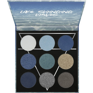 essence   WATER Eyeshadow Palette   9 Blendable Cool-toned Shades   Gluten and Paraben Free   Cruelty Free