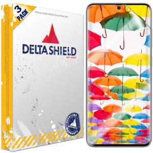 DeltaShield Screen Protector for Samsung Galaxy S20 (6.2 inch)(3-Pack)(Case Friendly Version) BodyArmor Anti-Bubble Military-Grade  Clear TPU Film