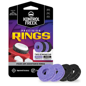 KontrolFreek Precision Rings   Aim Assist Motion Control for PlayStation 4 (PS4), Xbox One, Switch Pro and Scuf Controller   2 Different Strengths