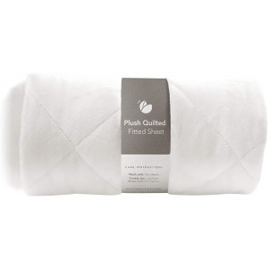 Guava Family - Lotus Crib Plush Quilted Fitted Sheet   Designed for Perfect, Manufacturer-Approved Fit, Soft and Safe for 1 Yr and Older, Unisex, Boys and Girls (New)