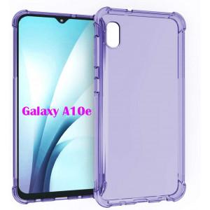 PUSHIMEI Samsung A10e Case,Galaxy A10e Case, Soft TPU Crystal Transparent Slim Anti Slip Full-Body Protective Phone Case Cover for Samsung Galaxy A10e (Clear Purple Anti-Shock TPU)