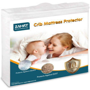 """ZAMAT Premium 100% Waterproof Mattress Protector, Breathable and Noiseless Mattress Pad Cover, Fitted 14""""-18"""" Deep, Vinyl Free, Hypoallergenic 