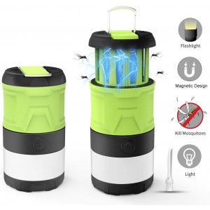LED Camping Lantern,Camping Lantern Bug Zapper with 2000mAh Rechargeable Battery, Camping Lights with Magnetic Base for Outdoor, Hiking, Home and Car, Lanterns Battery Powered LED with Flash Light