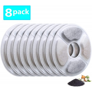 Lxiyu Pet Fountain Filter Cat and Dog Fountain Replacement Filters, Pet Water Fountain Activated Carbon Filter Keep Water Clean and Fresh Removes Bad Tastes and Odors