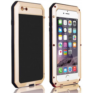 iPhone 8 Case,iPhone 7 Case,Marrkey 360 Full Body Protective Cover Heavy Duty Shockproof [Tough Armour] Aluminum Alloy Metal Case with Silicone Built-in Screen Protector for iPhone 7/8 - Gold