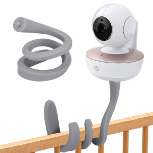 """XumZee Premium Baby Monitor Mount, Baby Camera Mount, Most Universal Monitors Camera with 1/4"""" Threaded Hole, Versatile Twist Mount Without Tools or Wall Damage - Gray"""