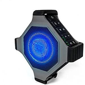 ECOXGEAR EcoEdge Plus GDI-EXEGPL410 Rugged Waterproof Floating Portable Bluetooth Wireless 20 Watt Smart Speaker with Bottle Opener and LED Party Lights (Gray)