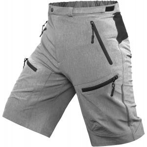 Cycorld Mens Mountain Biking Shorts Bike MTB Shorts Loose Fit Cycling Baggy Lightweight Pants with Zip Pockets