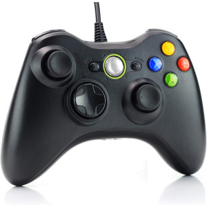 Xbox 360 Wired Controller, Enouvos USB Controller for Microsoft Xbox 360 and Windows PC (Windows 10/8/7/XP)