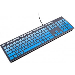 Keyboard Cover Skin Protector for Dell KM636 Wireless Keyboard, Dell KB216 Wired Keyboard, Dell Optiplex 3050 7450 7050, Dell Inspiron AIO 3475/3670/3477 All-in One Desktop(Blue)