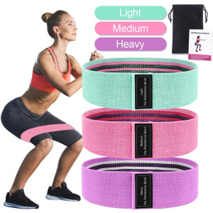 Exercise Resistance Bands, Booty Bands for Legs and Butt, Stretch Workout Bands for Home Fitness, Yoga Pilates Muscle Training,Wide Anti Slip Hip Bands