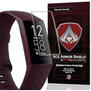ACE Armor Shield (8 Pack) Premium HD Waterproof Screen Protector Compatible with Fitbit Charge 4