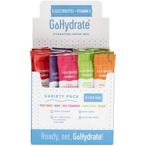 GoHydrate Electrolyte Drink Mix - A Naturally Flavored, Sugar Free, Hydration Powder (Mixed Flavors, 30)