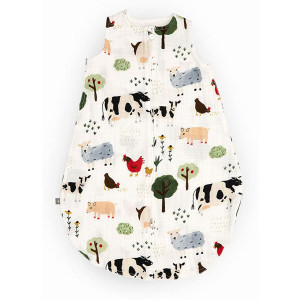 Red Rover Cotton Muslin Sleep Bag 100% Cotton - Machine Washable  0-24 Months - Lightweight, Breathable  Boys and Girls