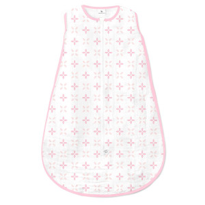 Amazing Baby Muslin Sleeping Sack with 2-Way Zipper, Springfield, Pink, Medium
