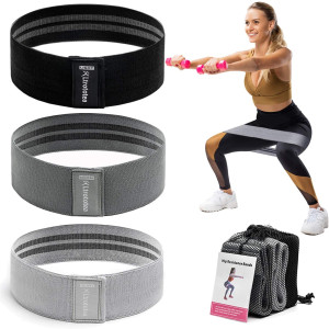 Ltrototea Resistance Bands for Legs and Butt,Workout Exercise Fitness Booty Bands for Women Men,Anti Slip Sports Glute Hip Bands Elastic(Set 3)