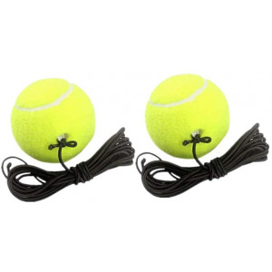 No.eight 2Pack Single Player Training Rebound Tennis, Tennis with Elastic Rope Suitable for Various Types of Bases,Tennis Beginner Training Tools