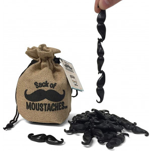 Getta1Games Sack of Mustaches - Game for Kids and Adults - Up to 8 Players for Parties and Family Game Night - Novelty and Gag Gift (PM/14LA)