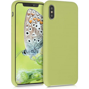 kwmobile TPU Silicone Case Compatible with Apple iPhone X - Soft Flexible Rubber Protective Cover - Matcha Green