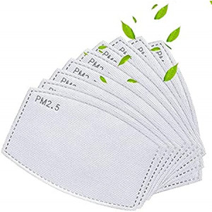 20 Pack Activated Carbon Filter Insert 5 Layers,Effective Non-Woven Fabrics Cotton Filter (Adult Size)