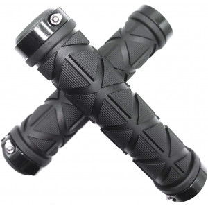 Caija-H Mountain Bike Grips Lock On,Soft Non-Slip-Rubber Bicycle Handlebar Grips for MTB,Downhill