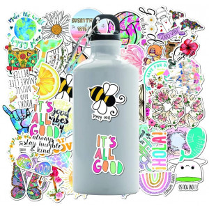 VSCO Stickers for Hydro Flask Stickers 50 Pack- Waterproof Vinyl Decal Stickers for Water Bottles, Laptop,Bicycles,Travel Case,Motorcycle (VSCO)