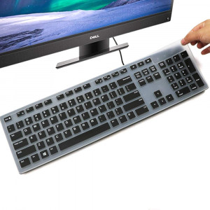 Keyboard Cover for Dell KM636 Wireless Keyboard and Dell KB216 Wired Keyboard/Dell Optiplex 5250 3050 3240 5460 7450 7050/Dell Inspiron AIO 3475/3670/3477 All-in one Desktop Keyboard Cover, Black