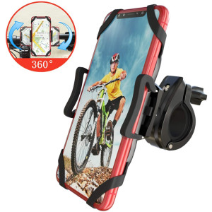 Bike Phone Mount, Detachable 360 Rotation Adjustable Universal Silicone Handlebar Cradle Motorcycle Phone Mount -for iPhone 11 Pro Max/X/XR/XS MAX/8/7 Plus, Samsung Galaxy S20 or Any Cell Phone...