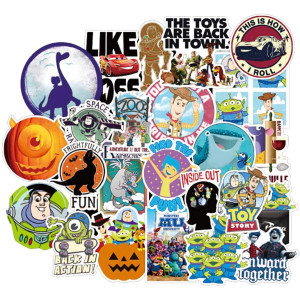 Pixar Animation Studios Animation Sticker 100Pcs Waterproof, Removable,Cute,Beautiful,Stylish Teen Stickers, Suitable for Boys and Girls in Water Bottles, laptops, Phones,Suitcase Durable Vinyl