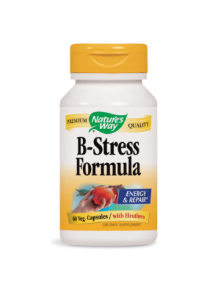 Nature's Way B-Stress Formula with Eleuthero Vegetarian Capsules, 60 Ct