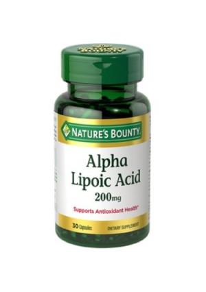 Nature's Bounty Super Alpha Lipoic Acid Dietary Supplement Capsules, 200mg, 30 count
