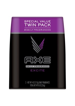 Axe Excite Body Spray Fragrance for Men, 4 oz each, twin pack