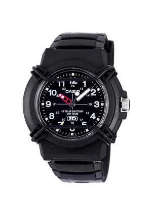 Casio Men's 10-Year Battery Sport Analog Watch, Black Resin Strap