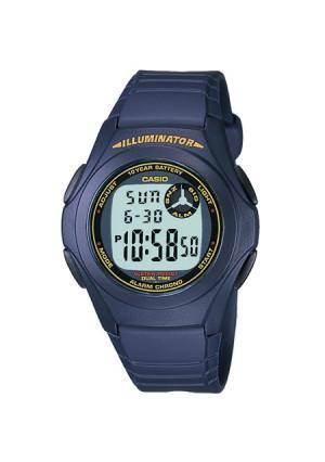 Casio Men's Digital Watch, Blue - F200W-2B