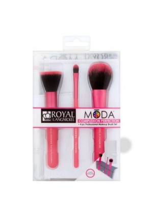 Royal and Langnickel Mda Complexion Perfection Professional Makeup Brush Set, 4 count