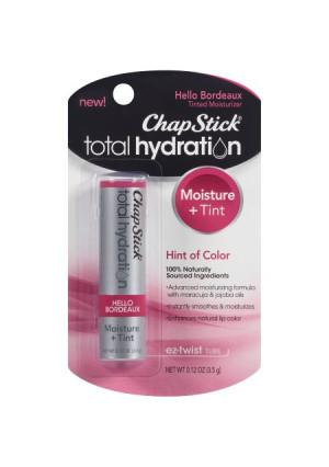 ChapStick Total Hydration Tinted Moisturizer, 0.12 Ounce Stick (Hello Bordeaux)