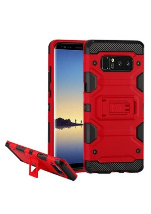 MUNDAZE Red Defense Double Layered Case For Samsung Galaxy S8 PLUS Phone