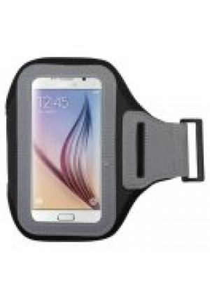 MUNDAZE Black Exercise Running Fitness Armband For Samsung Galaxy S5 / S6 / S7 / S8 / S6 Active / S5 Active Phone