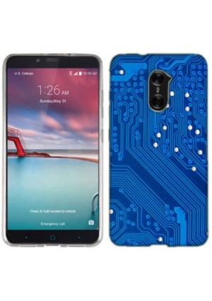 Mundaze Circuit Board Phone Case Cover for ZTE Imperial Max Grand X Max 2