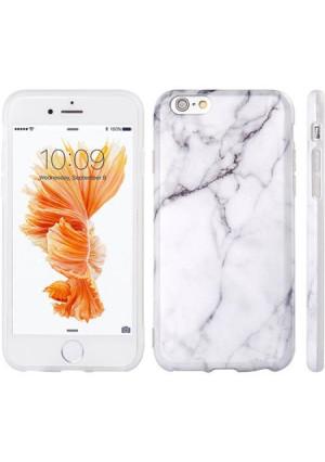 Mundaze Apple iPhone 6/6S TPU Classic White Marble Phone Case