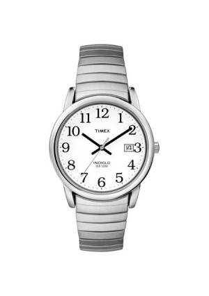 Timex Men's Easy Reader Watch, Silver-Tone Stainless Steel Expansion Band