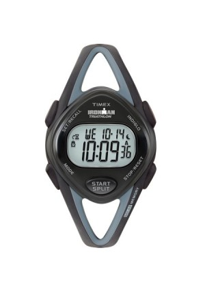 Timex Women's Ironman Sleek 50 Mid-Size Watch, Black Resin Strap