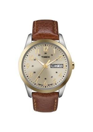 Timex Men's South Street Sport Watch, Brown Leather Strap