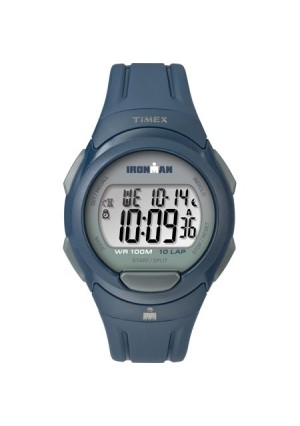 Timex Men's Ironman Essential 10 Navy/Gray Watch, Resin Strap